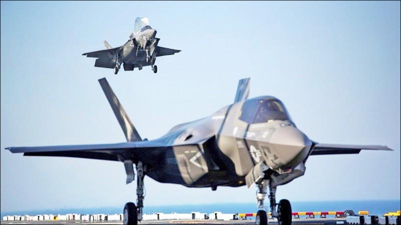 隨著共機對我空防壓力的增加,過去幾年國防部表示欲軍購但未在川普任內獲得的軍備,當屬具備匿蹤能力的F-35戰機,預料在拜登任內也會持續爭取。圖為F-35B戰機。(路透檔案照)