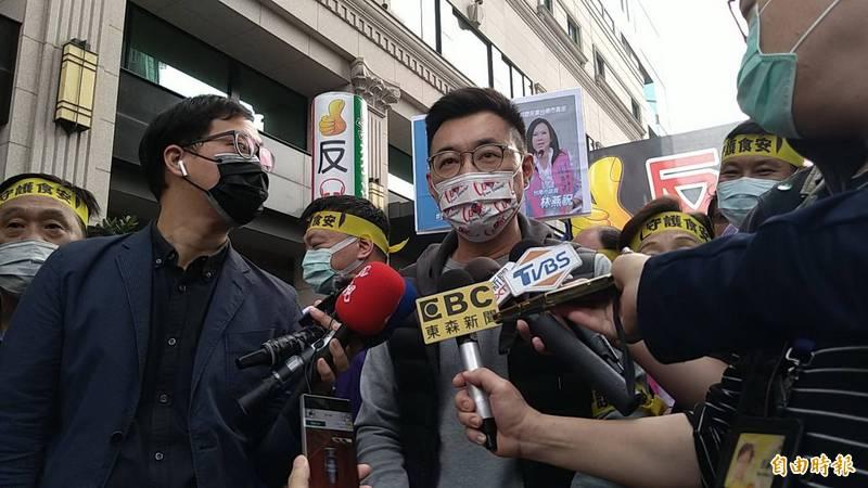 針對邱淑媞的言行引發爭議,江啟臣說,執政黨應該要有雅量容納不同的建議,讓整個防疫不是一言堂。(記者蔡文居攝)