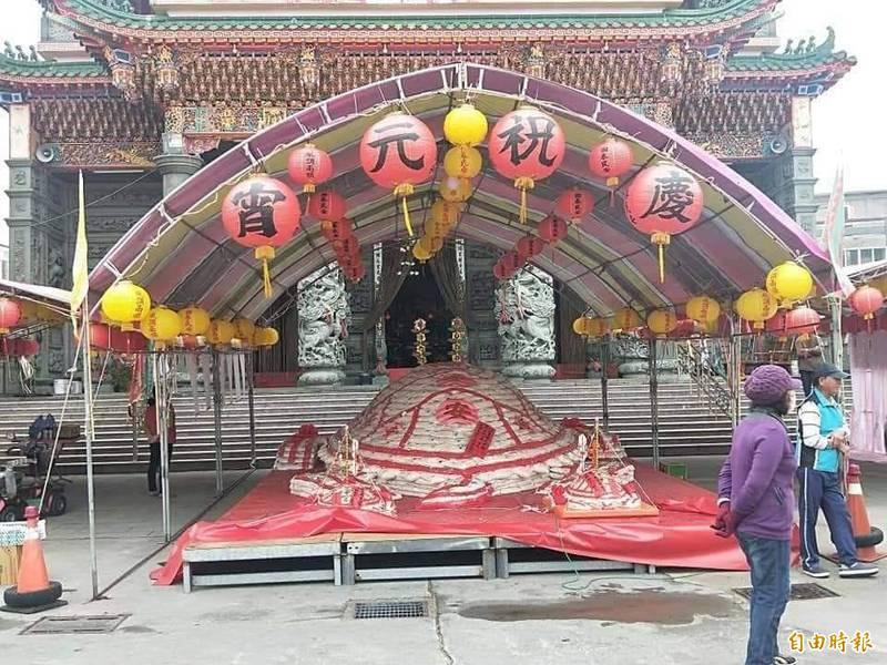 馬公文澳祖師廟宣布配合防疫,取消元宵節活動。(記者劉禹慶攝)