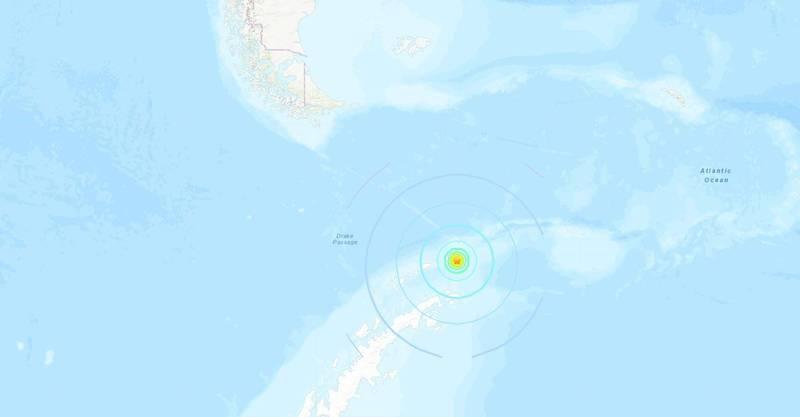 南設德蘭群發生芮氏規模7.1強震。(圖擷取自USGS)