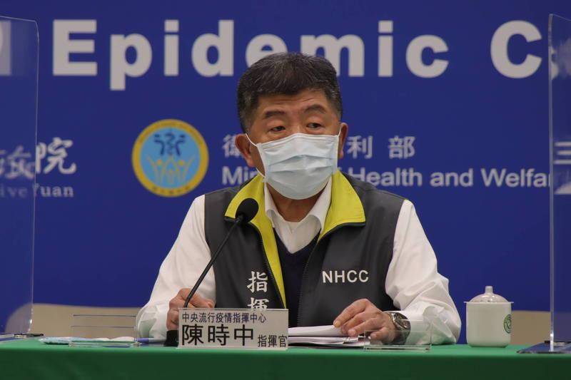 中央流行疫情指揮中心指揮官陳時中今天表示,疫苗平台COVAX近來有通知,可能有些疫苗會比較早一點來,但還沒有確認的時間。(圖由指揮中心提供)