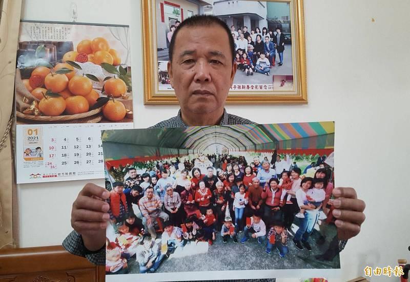 台中太平張家,每年大年初二都有近600位宗親聚會,主要籌辦者張文田表示,考量疫情持續今年決定停辦。(記者陳建志攝)