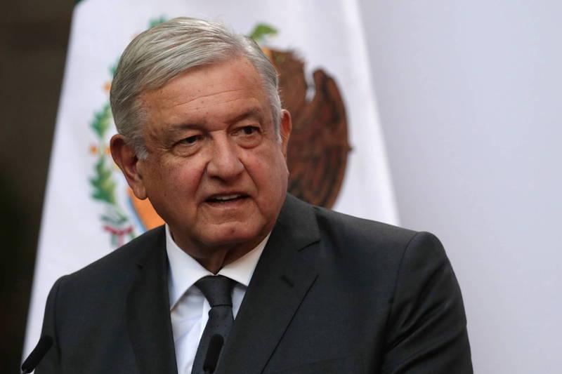 墨西哥總統羅培茲歐布拉多24日推文宣布確診武漢肺炎。(路透資料照)