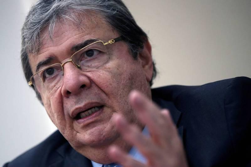 哥倫比亞國防部長特魯希略感染武漢肺炎,不治身亡。(路透)