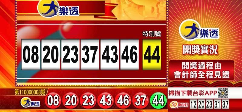 大樂透、49樂合彩開獎號碼。(圖擷取自57彩券王)