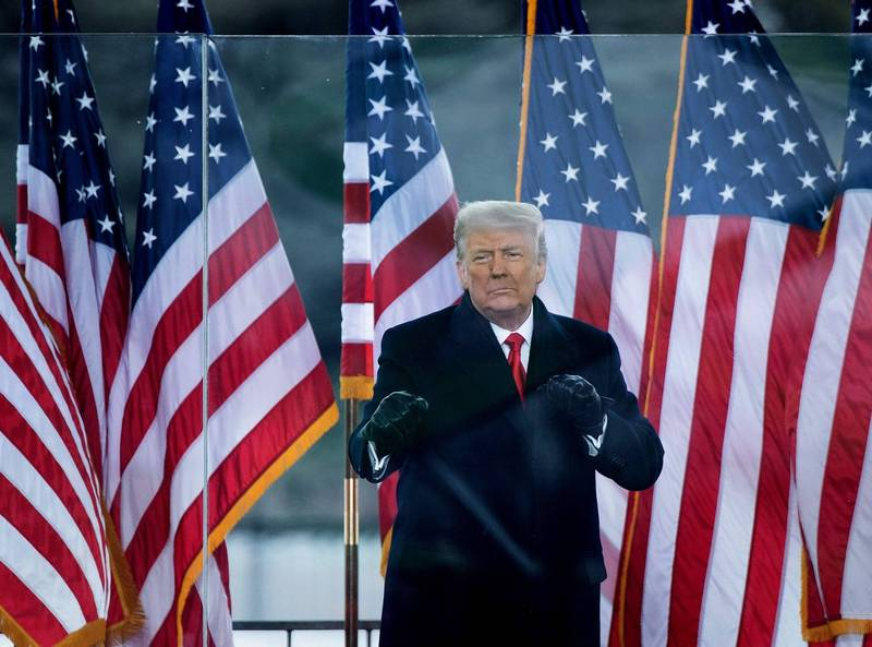 美前總統川普彈劾審判將在2月9日登場。(法新社)