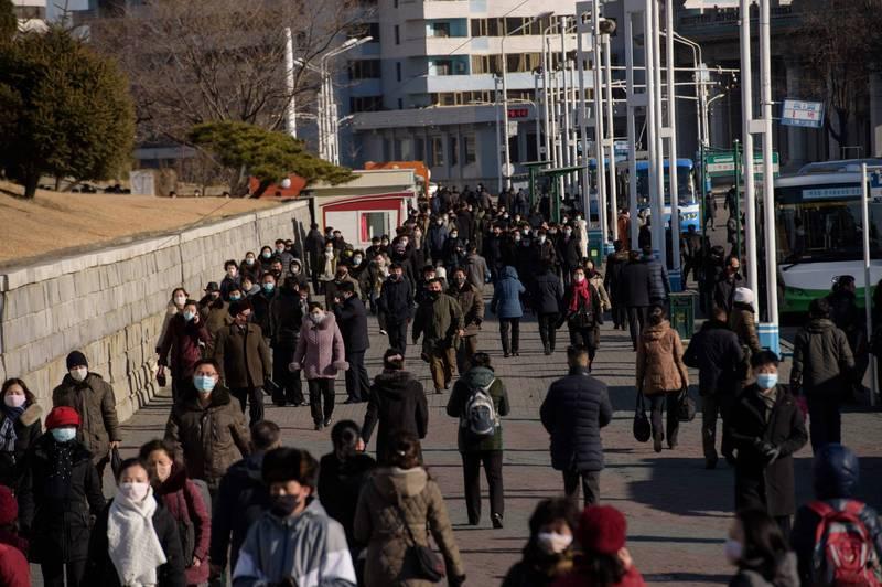 北韓官媒《勞動新聞》26日刊出評論,強調人民經濟要能反映人民意見,並將透過科學來制定合理經濟發展目標,圖為北韓首都平壤街道。(法新社資料照)
