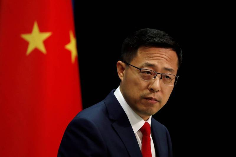 中國外交部發言人趙立堅表示,「希望美國新一屆政府吸取川普政府對華錯誤政策的教訓」。(路透)