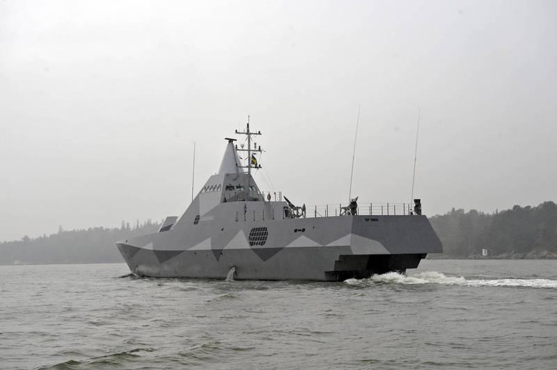 瑞典軍武廠商紳寶集團近日與瑞典國防簽署2項協議,價值約新台幣6.44億元,為瑞典偉士比級護衛艦進行中期改良,圖為瑞典偉士比級護衛艦。(歐新社資料照)