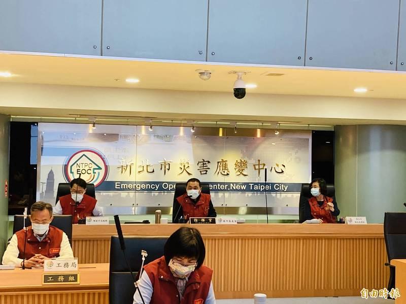 新北市長侯友宜日前主持防疫應變會議。(資料照)