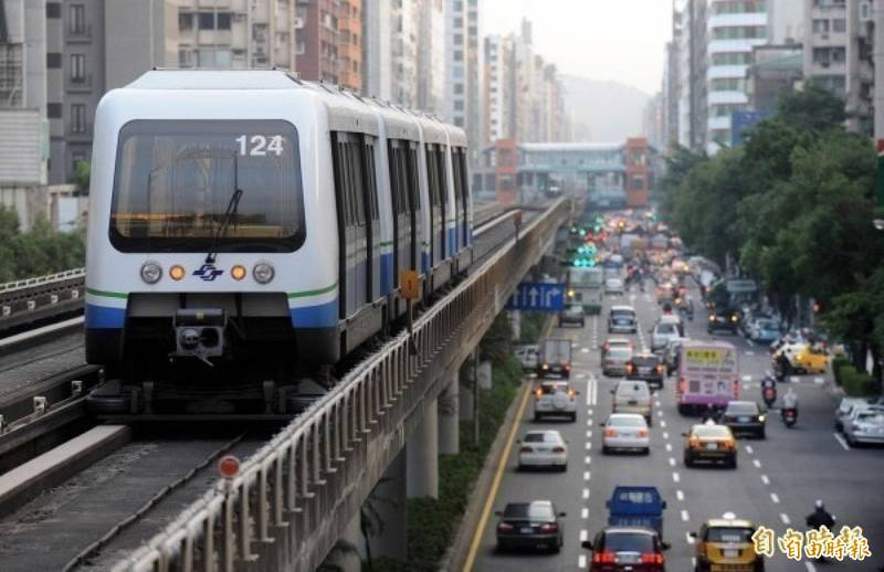台北捷運示意圖。(資料照)