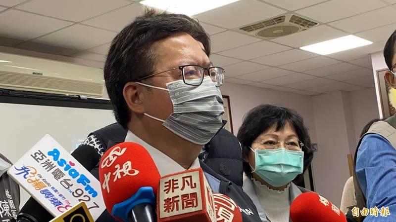 桃園市長鄭文燦PO文「這位先生」、感謝衛生福利部長陳時中對桃園防疫貢獻。(記者謝武雄攝)
