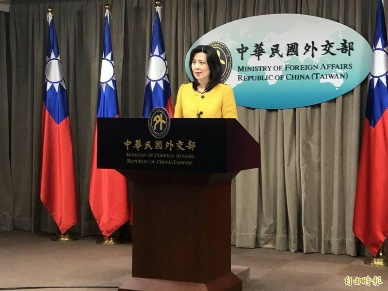 外交部發言人歐江安出席例會。(資料照)