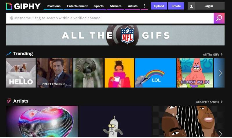 In May last year, Facebook acquired Giphy, a website that produces and shares animated pictures (ie GIFs), and integrated it with Instagram, a social platform that uploads a large number of photos.  (The picture is taken from Giphy website)