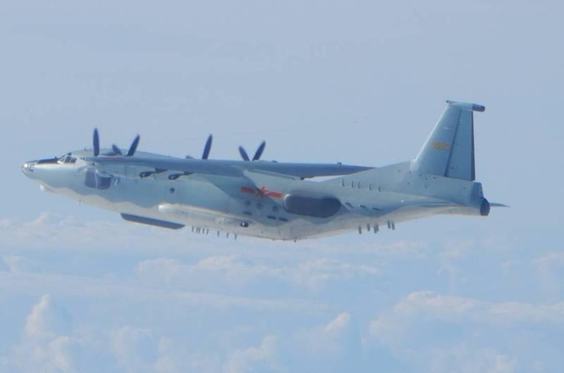 中國軍機密集襲擾我國鄰近空域成日常。示意圖。(國防部提供)