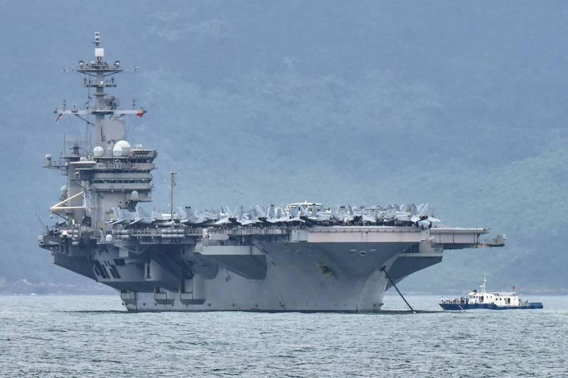 金融時報指出,中國軍機日前擾我空域時,曾模擬攻擊也在附近的美軍羅斯福號航艦。(路透檔案照)