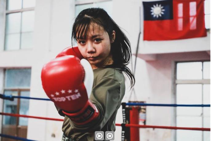 甜野女孩張玉湘,成為陸軍特戰部隊「格鬥師資班」首位女性學員。(青年日報提供)
