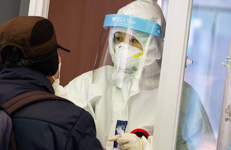 南韓境內武漢肺炎(新型冠狀病毒病,COVID-19)新增458宗確診、8例死亡。示意圖。(歐新社)