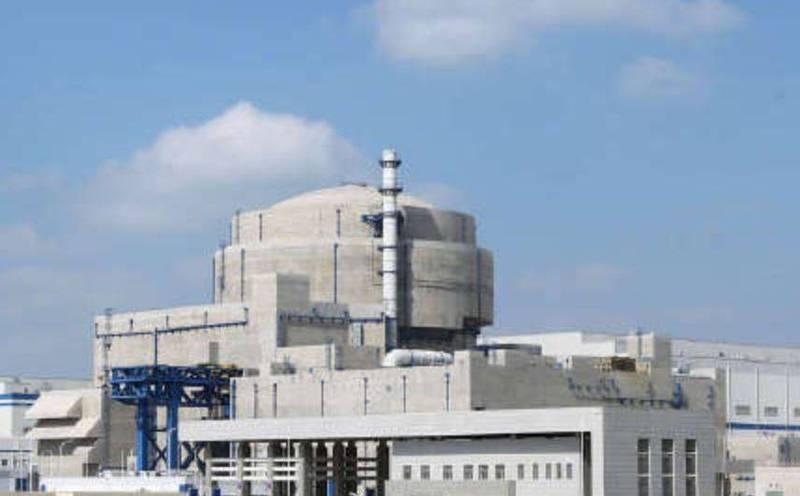 中國福建省福清核電廠的「華龍一號」今(30日)開始投入商業運作,但福清核電廠和台灣苗栗通霄直線距離僅相差162公里。(圖擷自微博)