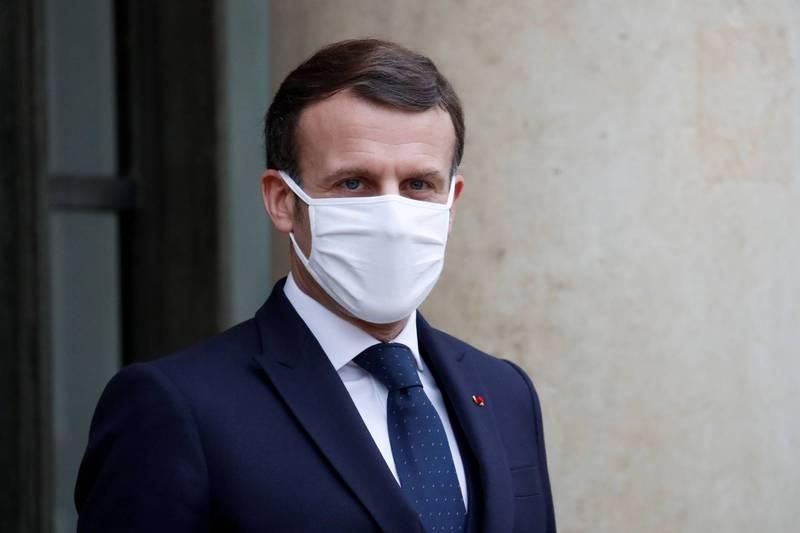 法國總統馬克宏表示,將暫緩第3次封城計劃,但會實施更嚴格的防疫管制措施。(路透)