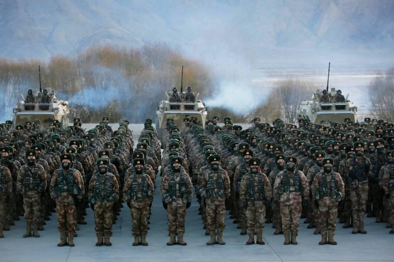 黃澎孝發現,中共解放軍20年前就曾說過「台獨就意味著戰爭」,如今再放出「陳年老屁」。(法新社檔案照)