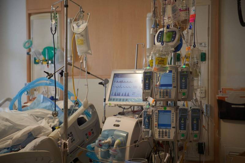美國馬里蘭州出現無旅行史的南非武漢肺炎(新型冠狀病毒病,COVID-19)變種病例。馬里蘭州武肺病房示意圖。(法新社)