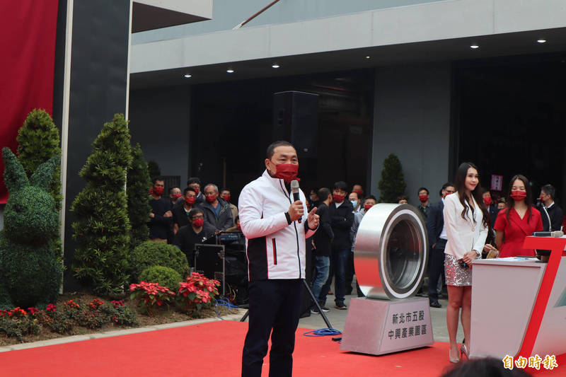 侯友宜表示,趙少康是國民黨難得的好人才。(記者周湘芸攝)