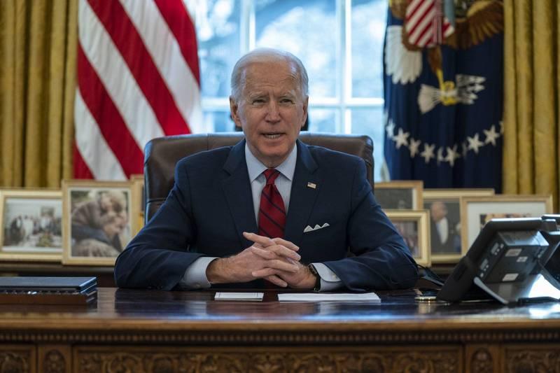 美國總統拜登(Joe Biden)1日表示,考慮對緬甸重啟制裁。(美聯社資料照)