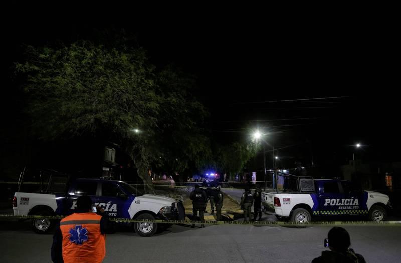 墨西哥上月驚傳19具焦屍案,當局證實有12名員警涉案。墨西哥警察示意圖。(路透)