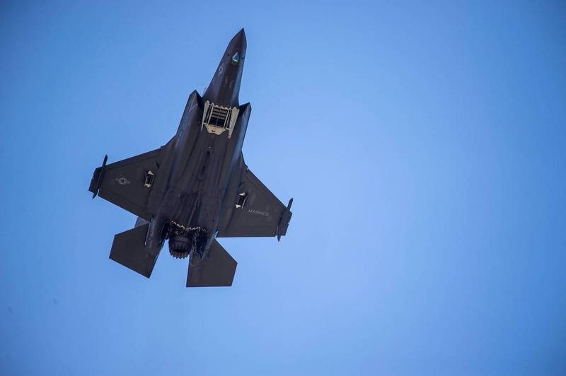 阿聯駐美大使歐泰巴2月1日表示,有信心最後阿聯仍能獲准引入F-35戰機,通過拜登政府的審查,圖為F-35戰機。(法新社資料照)