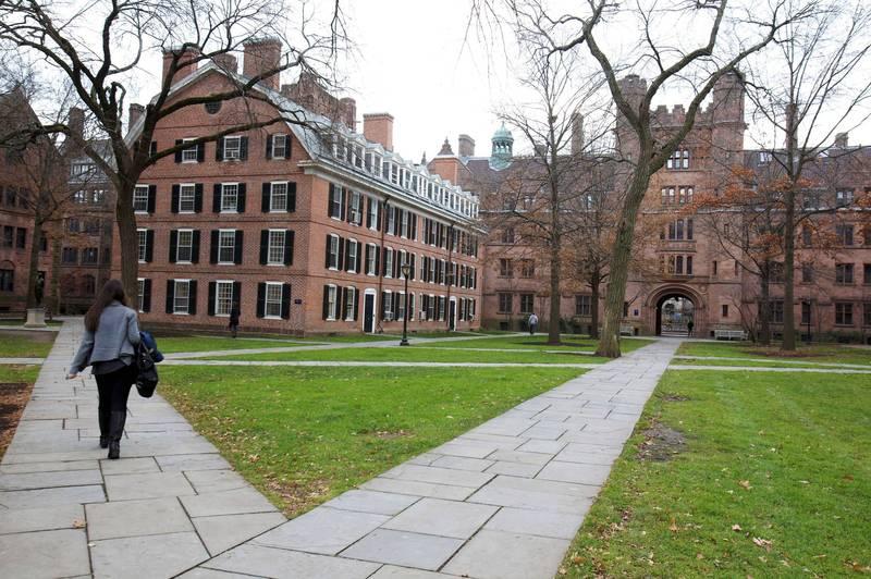 拜登政府上任後,決定撤銷對耶魯大學的訴訟。(路透)