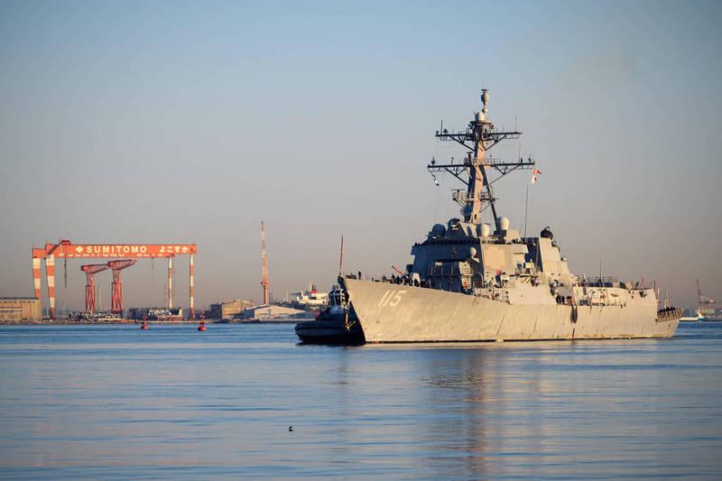美國太平洋艦隊司令部宣布,最新型、最強的伯克級驅逐艦之一裴拉塔號今(4日)已抵達日本橫須賀港,加入第7艦隊。(圖取自美國太平洋艦隊司令部官網)