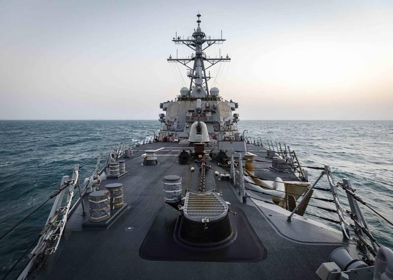 美軍第七艦隊發文表示,配備神盾戰鬥系統的勃克級導向飛彈的驅逐艦馬侃號,4日依國際法執行通過台灣海峽的例行任務。(圖擷自Commander, U.S. 7th Fleet)