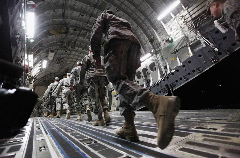 美國會兩黨報告建議,拜登政府應延長助阿美軍撤軍期限。(法新社)