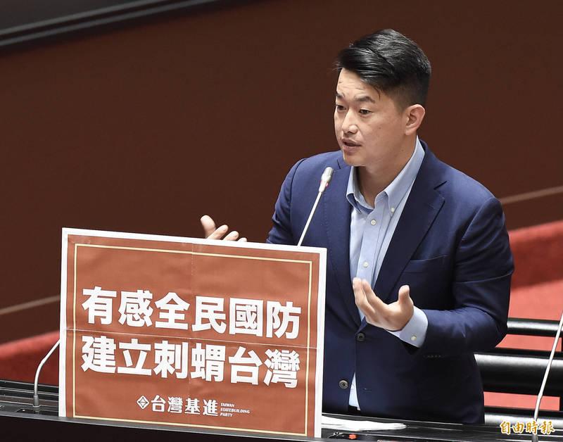 立委陳柏惟第一階段罷免提議書已達標,將如期送件,台灣基進聲明,將用全黨力量捍衛。(記者王榮祥翻攝)