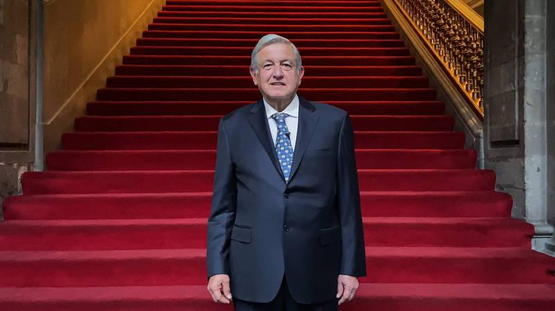 墨西哥政府在2月4日宣佈,總統羅培茲歐布拉多不到2週的時間已經從武漢肺炎康復,檢測也呈陰性,圖為羅培茲歐布拉多。(歐新社)