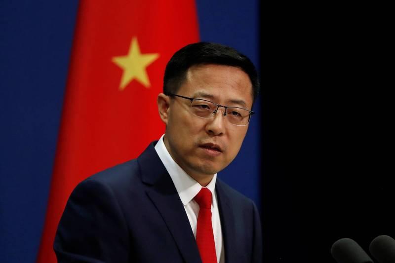 美國研究指出,包括中國外交部發言人趙立堅在內,多名中國官員都參與散播垃圾假資訊。(路透檔案照)