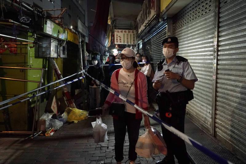 香港武漢肺炎疫情反覆。(美聯社)