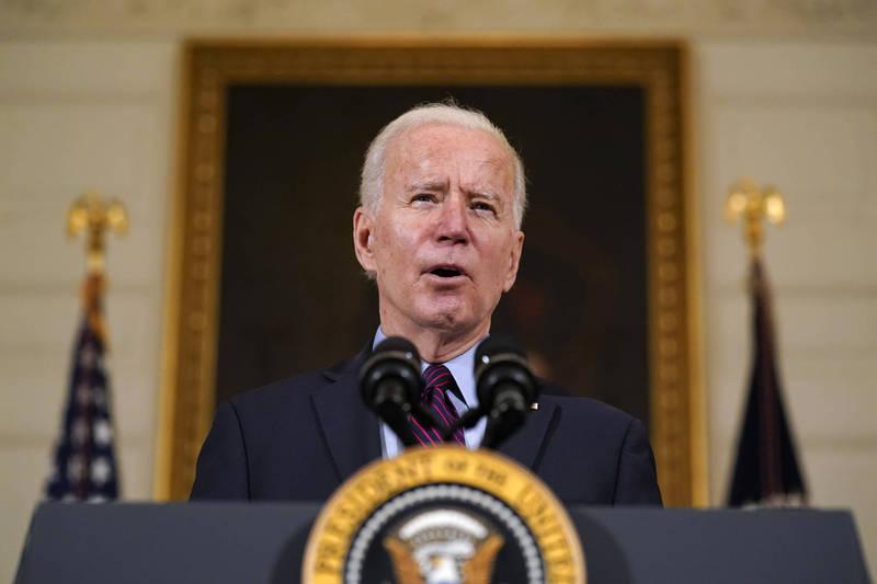 美國總統拜登在7日播出的訪談中,明確的表態除非伊朗停止提煉濃縮鈾,否則美國將不會取消對伊朗的制裁。(美聯社)
