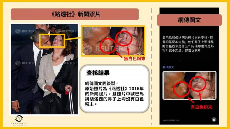 The inspection center produced a comparison chart to refute rumors.  (The picture is taken from the website of the Check Center)