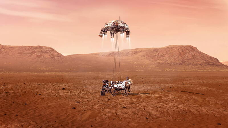 NASA最新火星探测器「毅力号」预定2月18日降落火星。(欧新社)(photo:LTN)