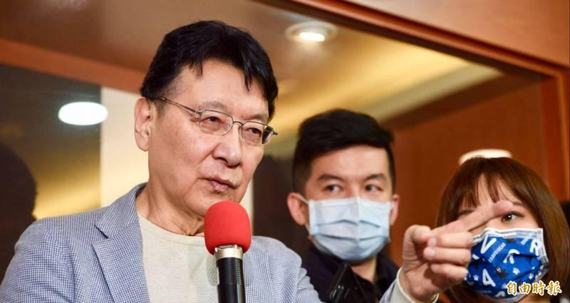 趙少康8日表示,自己將爭取參加國民黨總統提名初選。(資料照)