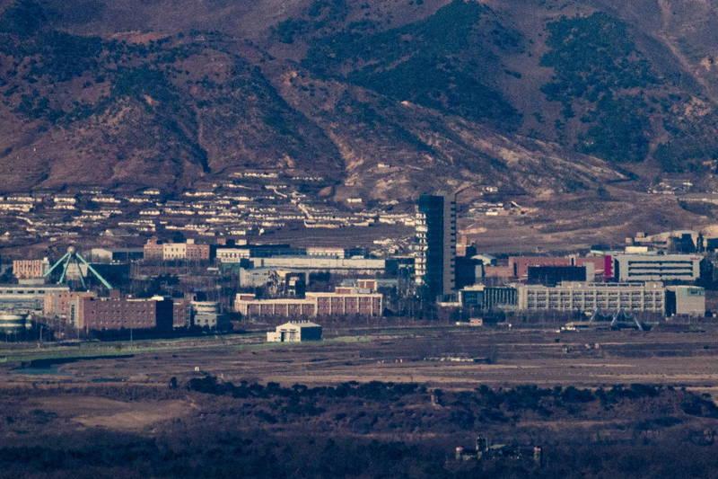 南韩国会议员日前指控南韩石油公社的一位高级长官,曾在2019年与北韩官员会面,并提议为北韩建设天然气发电厂。图为南北韩暂停合作建设的开城工业区。(欧新社)(photo:LTN)