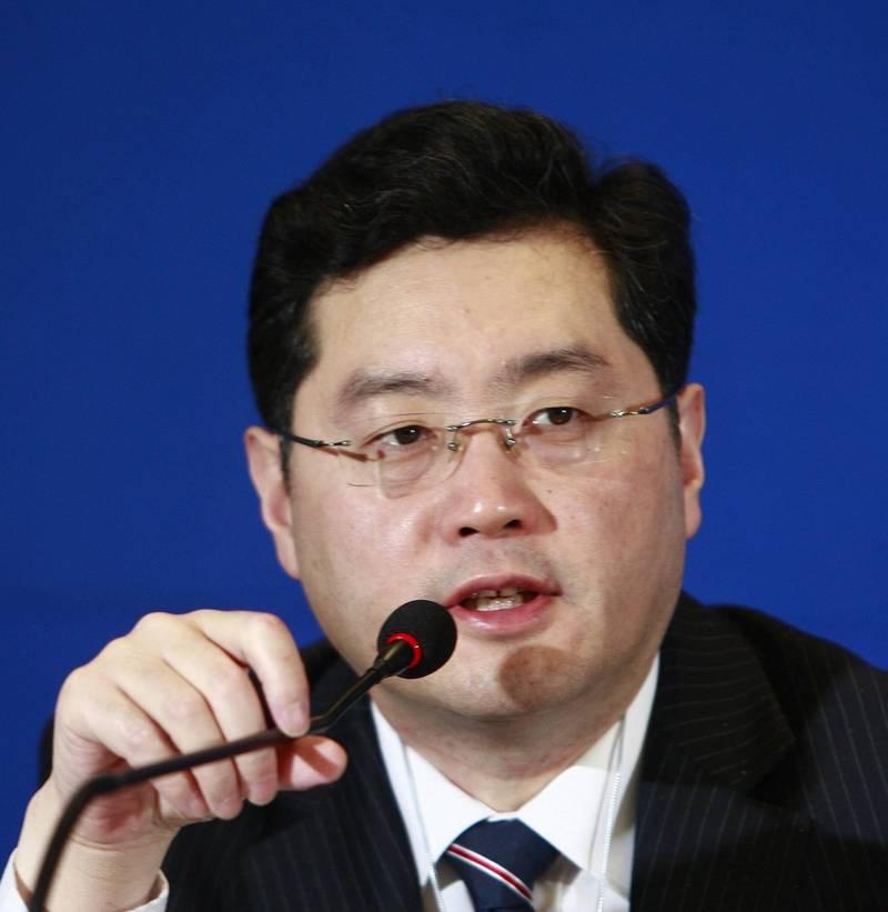 中国外交部副部长秦刚表示,「战狼外交」的说法是毫无根据的抹黑,中国是各种谣言和假消息的受害者。(欧新社资料照)(photo:LTN)