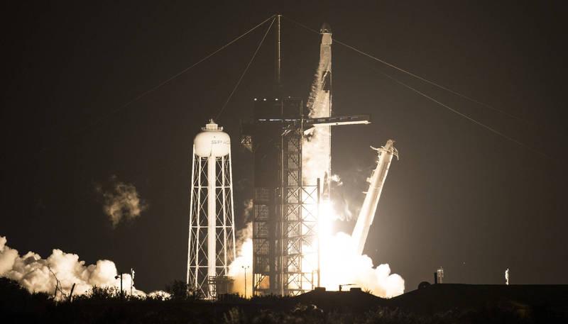 從美國本土升空的太空人創下最長太空時數紀錄。(美聯社)