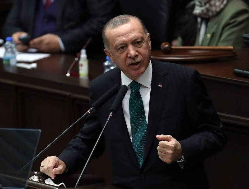 Turkish President Edogan (pictured) stated today that the issue of splitting Cyprus must be resolved with a