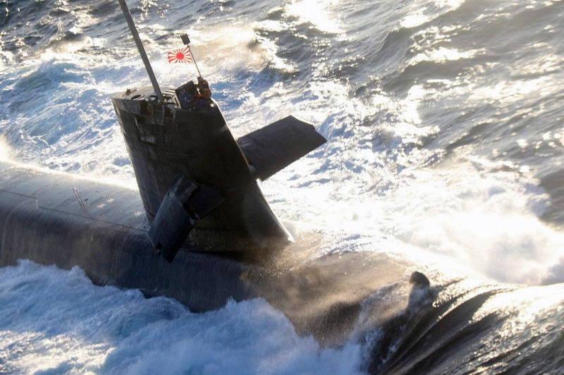 日本海上自衛隊潛艦「蒼龍號」8日與民間商船在高知縣近海發生碰撞事故。(歐新社)
