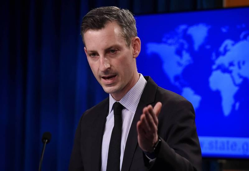 美國國務院發言人普萊斯(Ned Price)9日在記者會上表示,美方持續密切關注印度與中國的邊境衝突。(法新社)