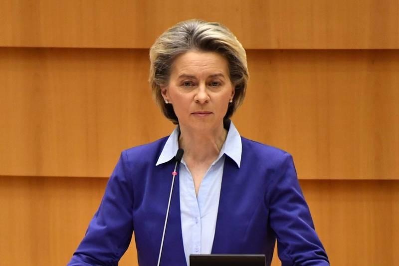 President of the European Commission Von der Lein (pictured) publicly admitted for the first time today that the European Commission made a mistake in purchasing vaccines on behalf of all EU countries, approved too late, was too optimistic about mass production, and at the same time was really able to deliver orders in time. The goods are too confident.  (Bloomberg)
