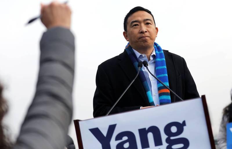 台裔纽约市长参选人杨安泽(见图)目前以28%的支持度领先其他同党竞争对手。(路透资料照)(photo:LTN)